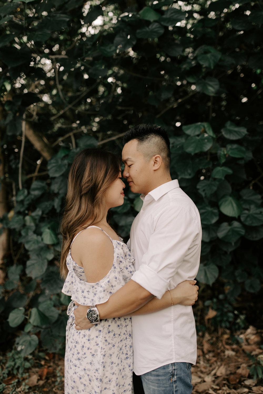 Hoomaluhia Botanical Garden Engagement Photos by Hawaii Wedding Photographer Desiree Leilani
