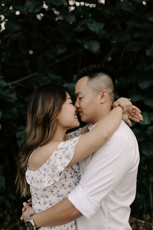 Gorgeous Engagement Photos at Hoomaluhia Botanical Gardens by Hawaii Wedding Photographer Desiree Leilani