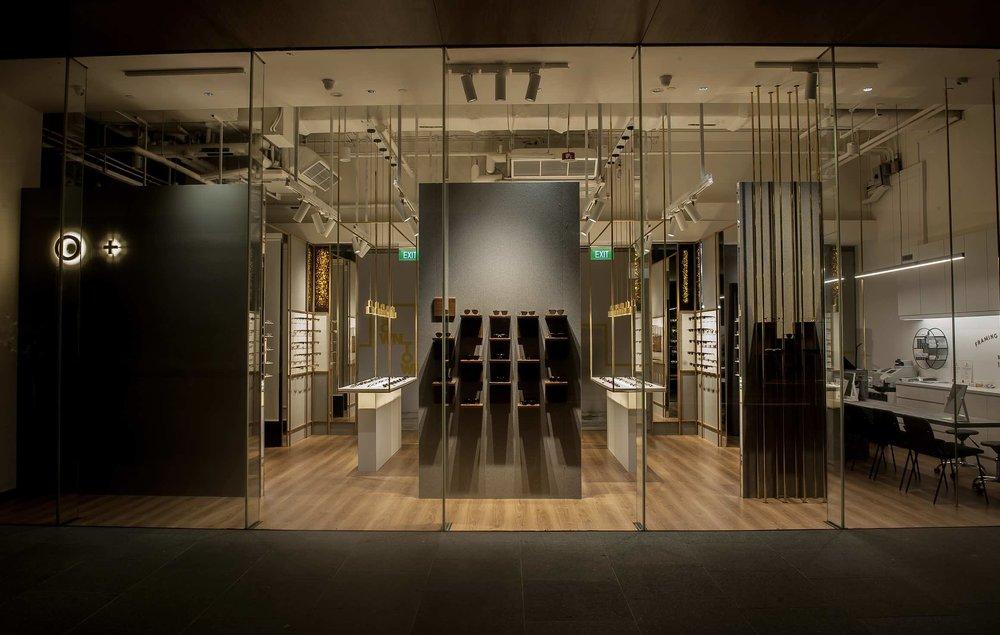 O + - Singapore's first intelligently illuminated eyewear store