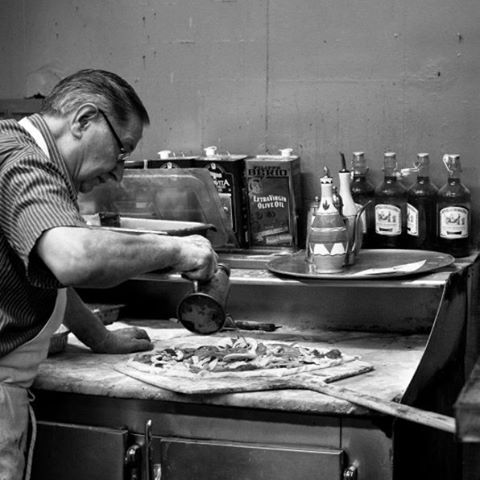 What's your idea of a good Friday night? #DoWhatYouLove  #DiFara #Pizzaiolo #MasterPizzaMaker #Over50Years #BrooklynPizza