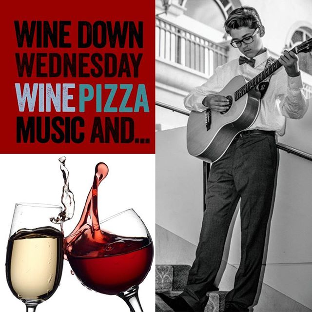 Starting now - half off bottles, at 3pm - awesome food and drink specials, then at 5:30pm - we have live music from Santiago LaRochelle. See you there!  #VinoIsLIfe #Vino #SantiagoLaRochelle #BringYourBoss #WineWednesday #LiveMusic #LocalMusic #LocalVegas #VegasLocals #AcousticMusic #YoungMusician #SantiagoLaRochelle #JackJohnson #BillWithers #PearlJam #BenHarper #OriginalSongWriter #VegasMusic #HappyHour #SocialAlerts #CraftCocktails #PatioPizza #PizzaLove #VegasHappyHour #BestPizza #BOGODrinks #WineWednesdays #DanielParkMusic