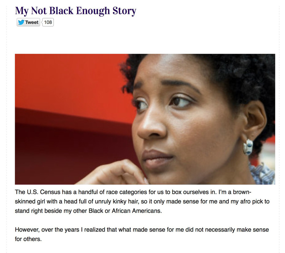 "For Harriet  | ""Not Black Enough"""