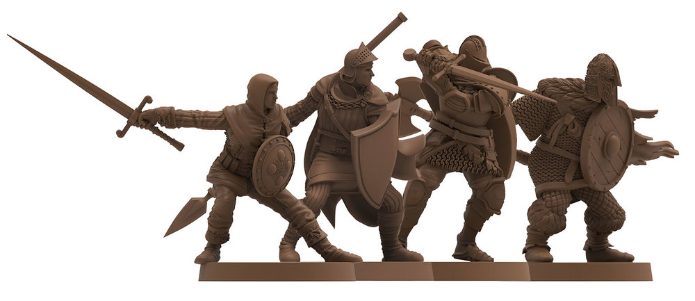The Player Characters - Assassin, Herald, Knight and Warrior