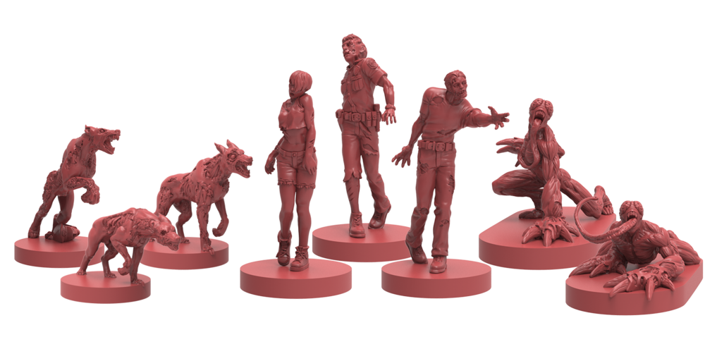 3D Renders of Zombie Dogs, Zombies, Lickers