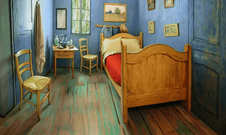Van Gogh Air Bnb Bedroom