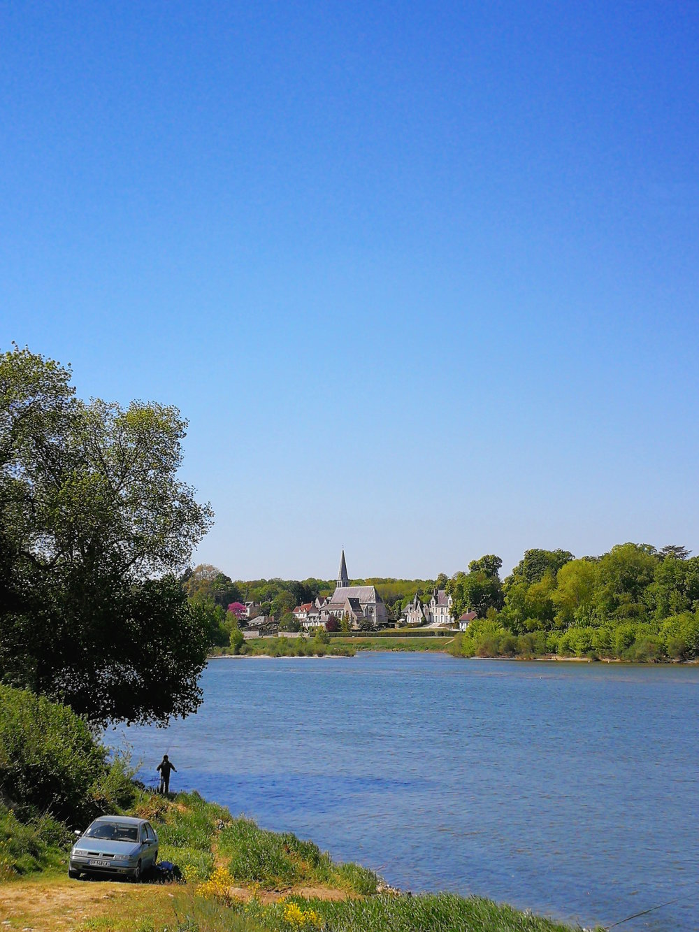 Fishing at the Loire River