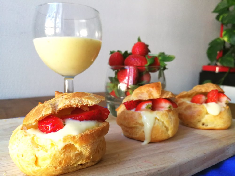 Choux pastry can also be used to make profiteroles and eclairs.