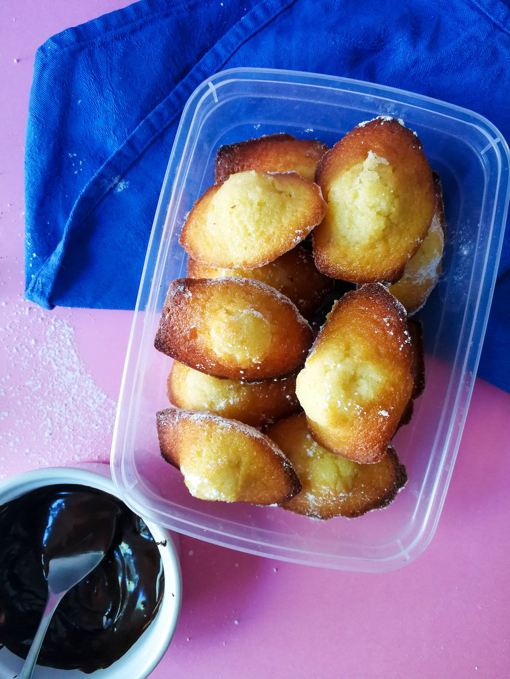 Madeleines store well for several days in the fridge and in an airtight container, but try to serve them at room temperature for the best flavour.