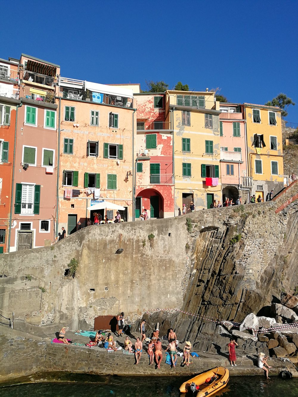 Riomaggiore, the first of the five villages that form the Cinque Terre.
