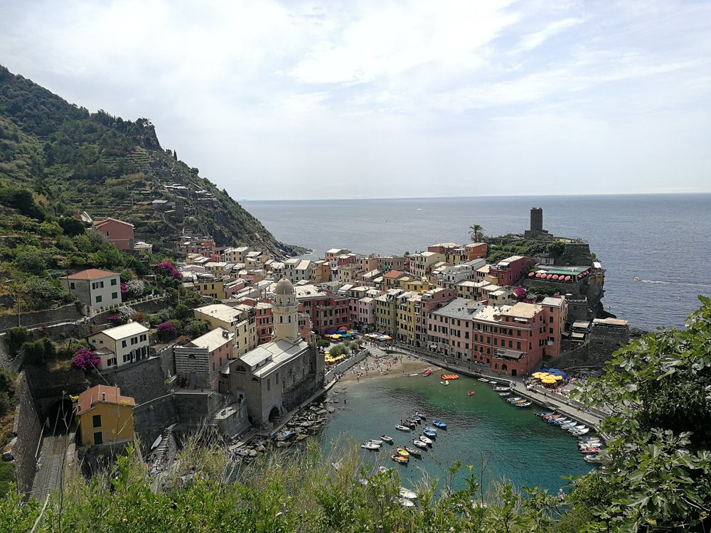 Vernazza hike view