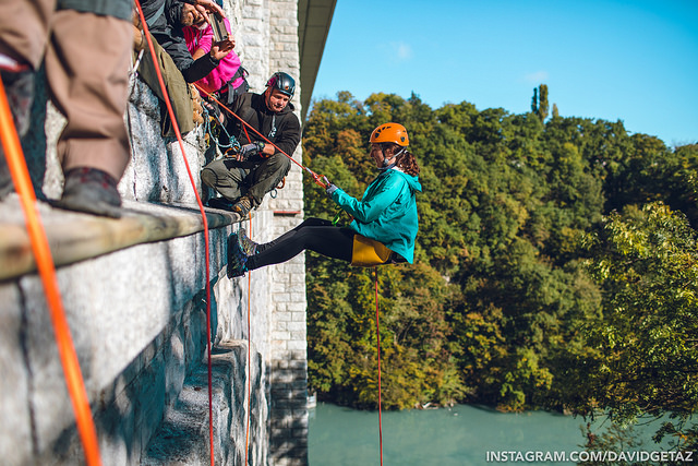 Abseiling Pop in Geneve