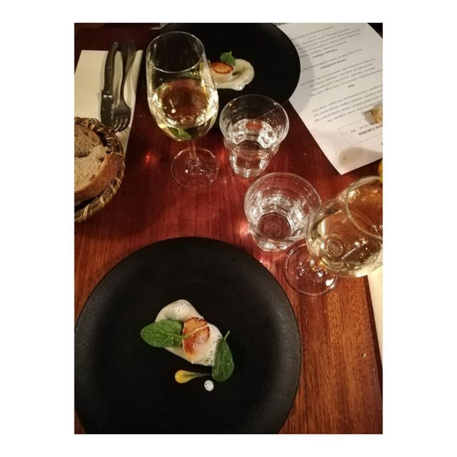 @paulinepellissier and I had a wonderful time testing @restaurant_automne's fusion of French regions tonight 😋. The dégustation was perfect! Merci beaucoup, Nobuyuki and team! #bravochef #parisdining 👏