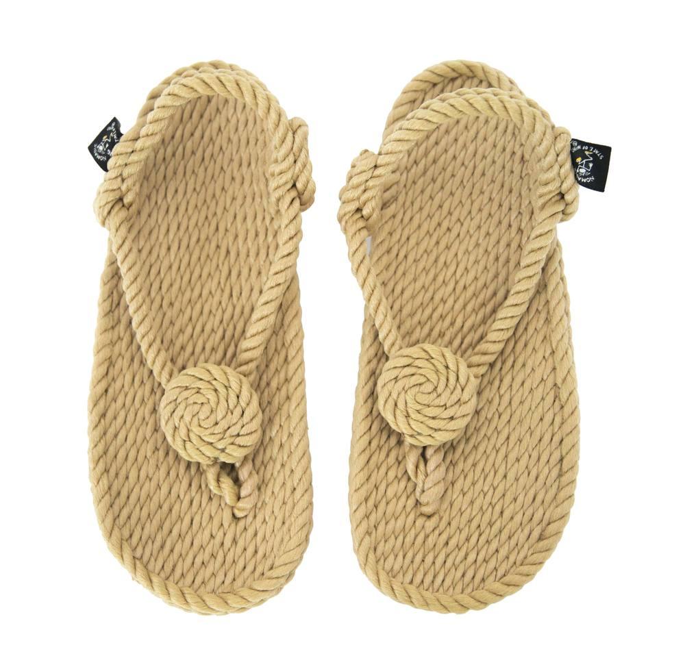 1404e8ce1745 Flower flop rope sandal camel colour seasoul snow jpg 500x489 Rope flip  flops