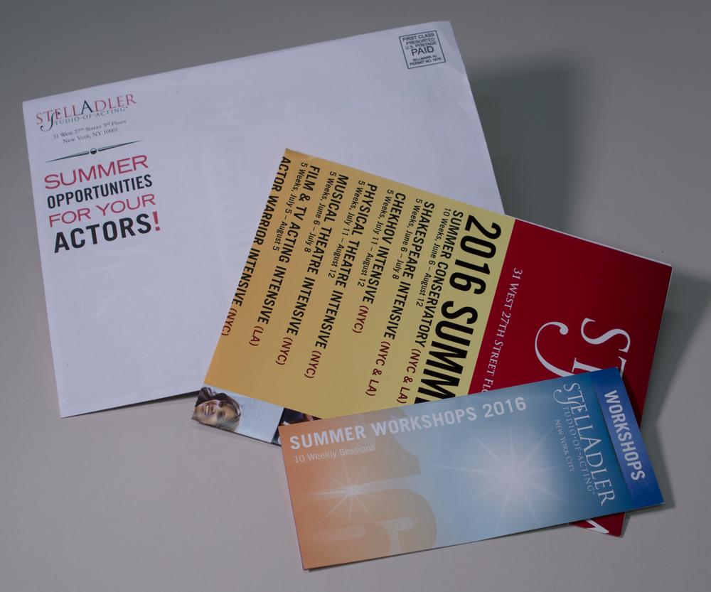 Stella Adler 2016 Direct Mailing