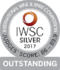 Silver Outstanding International Wine & Spirits Competition 2017  Batch 5