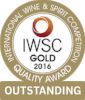Gold Outstanding International Wine & Spirits Competition 2016  Batch 2