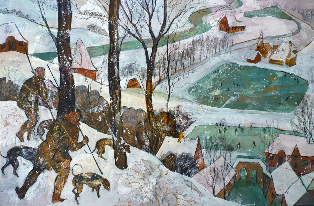 "After Bruegel's ""Hunters in the Snow"""