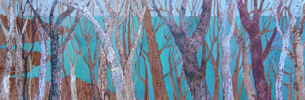 Sea through the trees