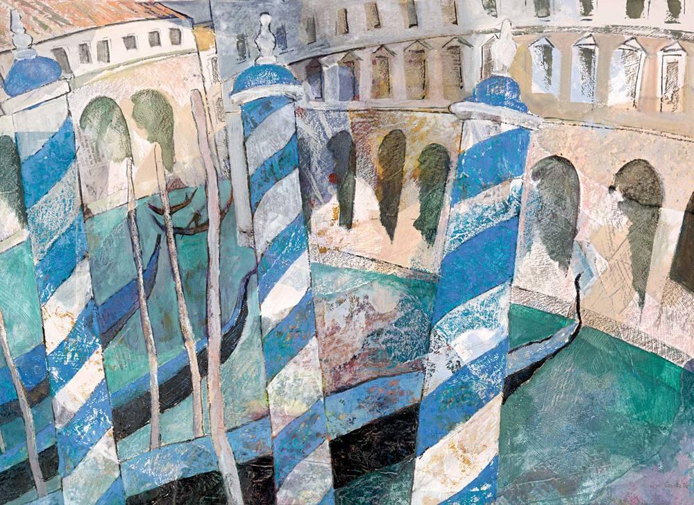 Blue poles, Venice