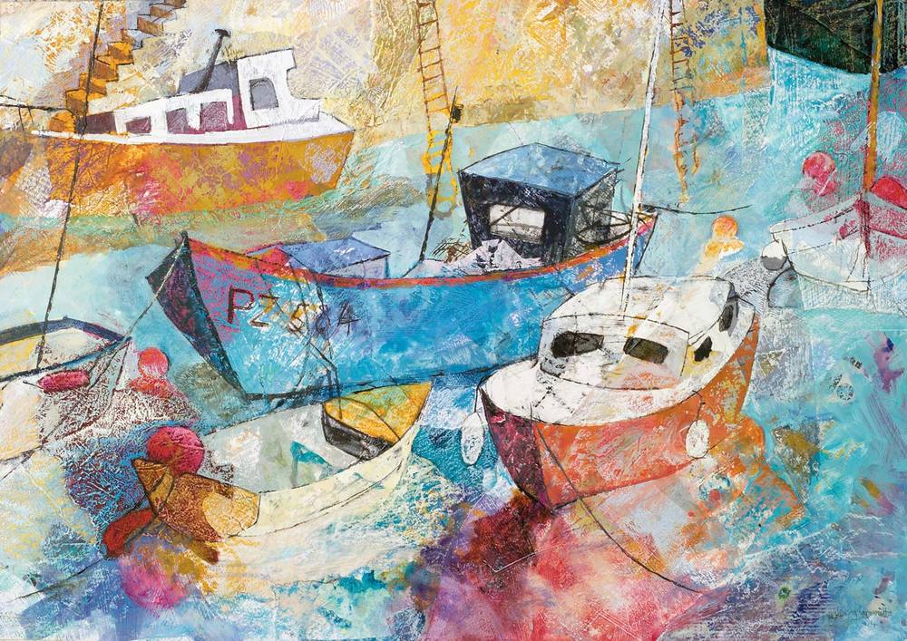 Blue fishing boat, Mousehole