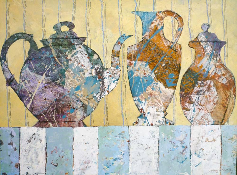 Round teapot still life