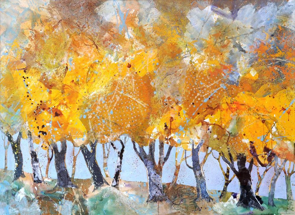 Row of trees, Autumn