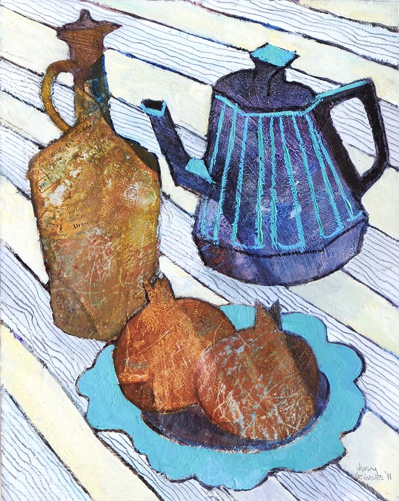 Striped cloth still life