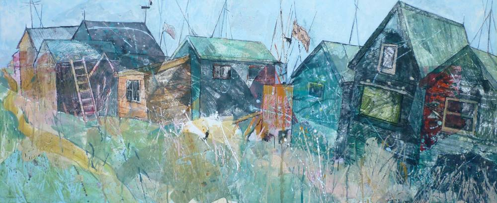 Southwold harbour huts