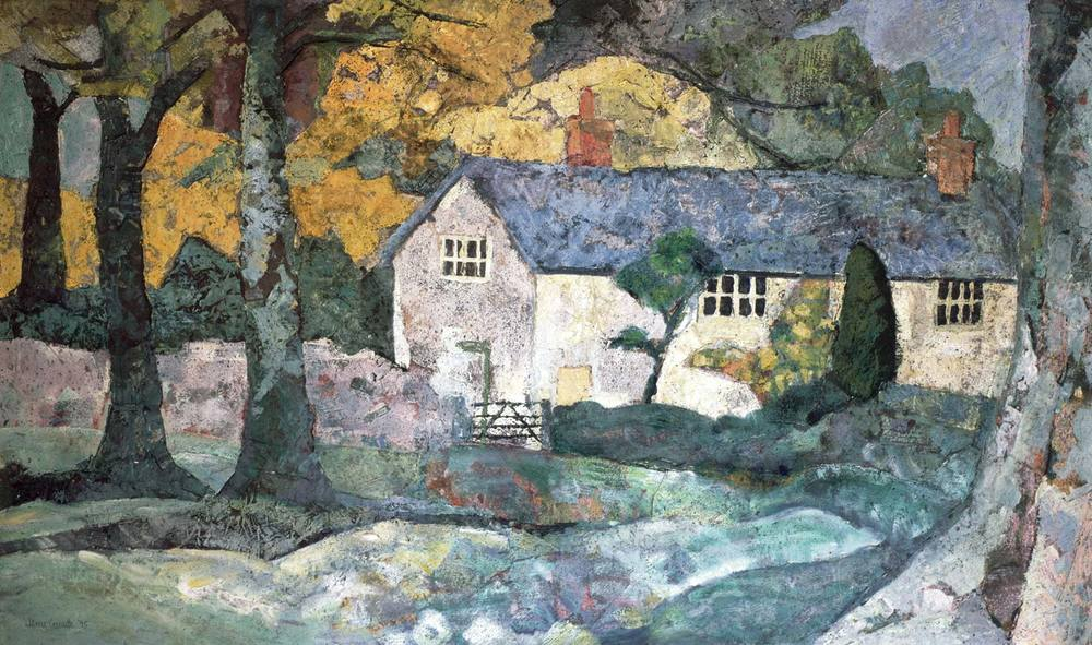 Artist's house in the autumn