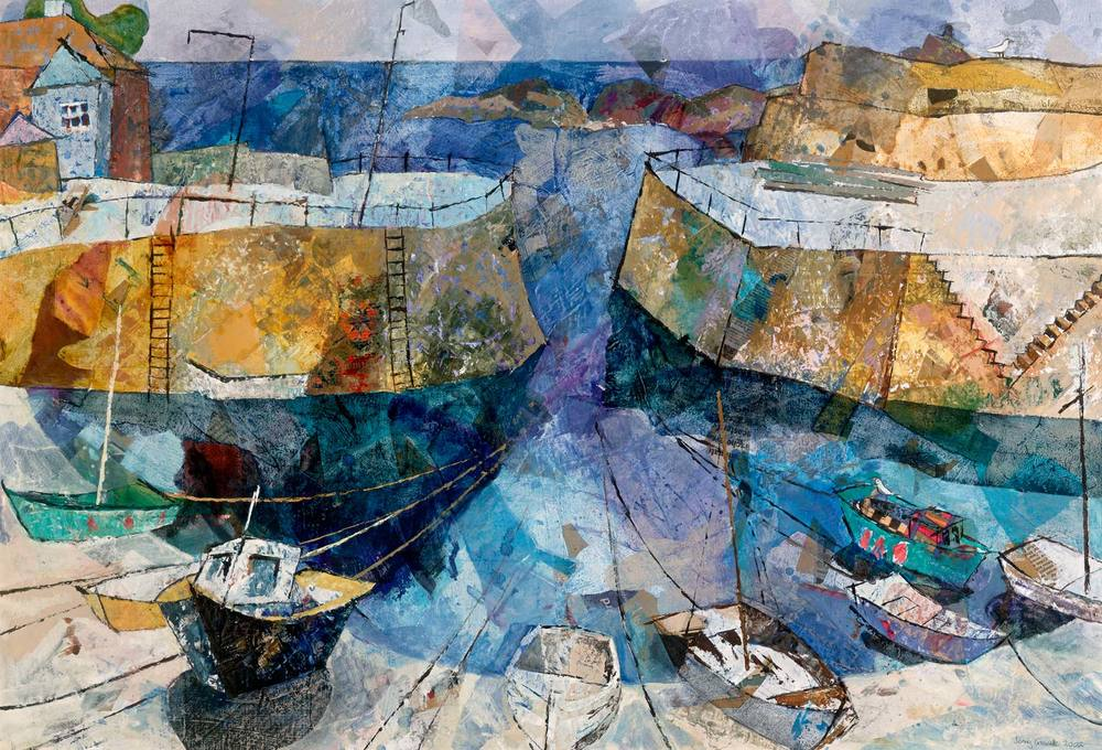 Circle of boats, Mousehole