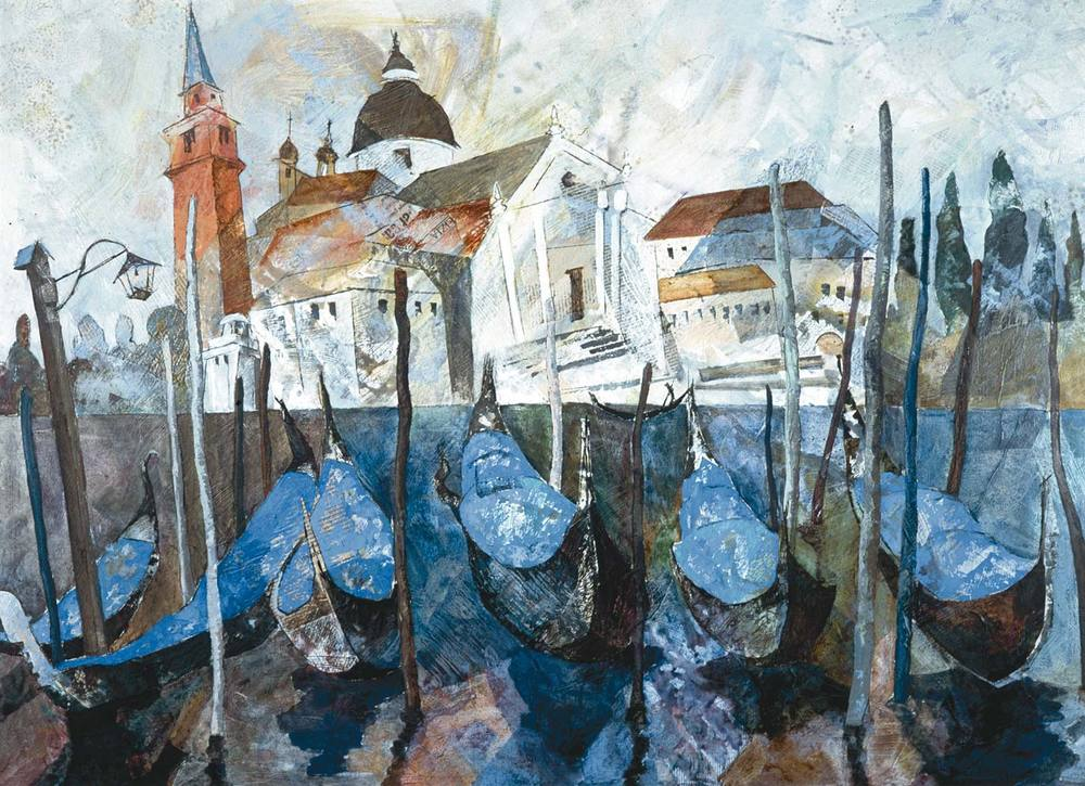 Venice gondolas, October day