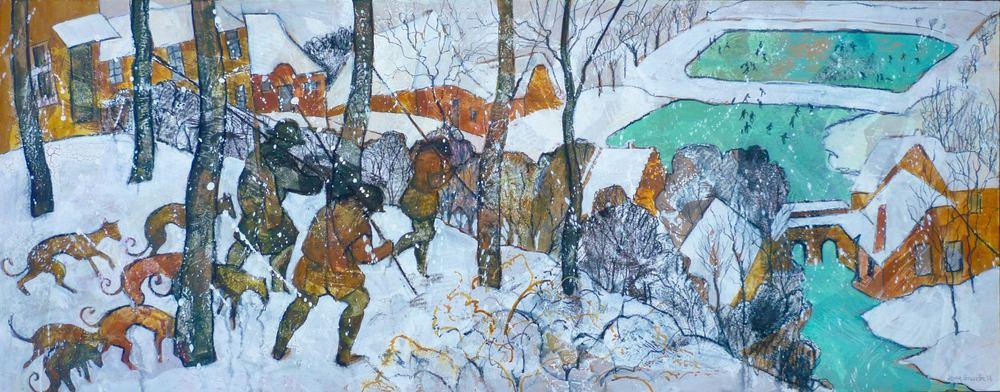 Snowscene inspired by Bruegel