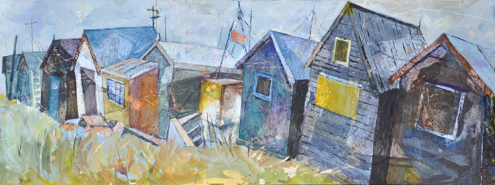Backs of fishermen's huts, Southwold