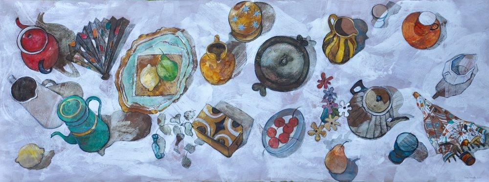Studio objects on the floor