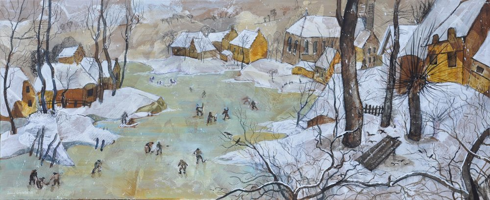 "Tribute to Bruegel's ""Skaters """