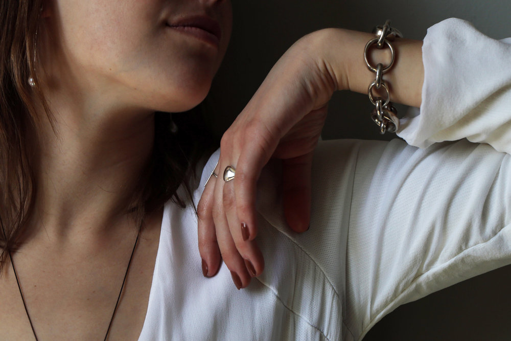 Handmade jewelry crafted from recycled metals and natural stones. Meant to be collected, layered and adored.