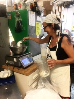 Sonya Gammal, Kitchen Coordinator, has been making sourdough bread at West End Food Coop for 4 years now!