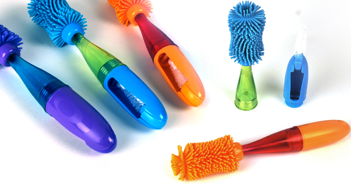 SASSY SCRATCH-FREE BABY BOTTLE BRUSHES