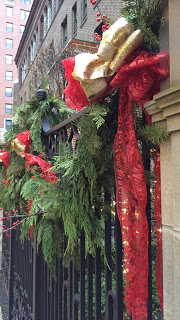 Living garland hung on Dearborn in Gold Coast