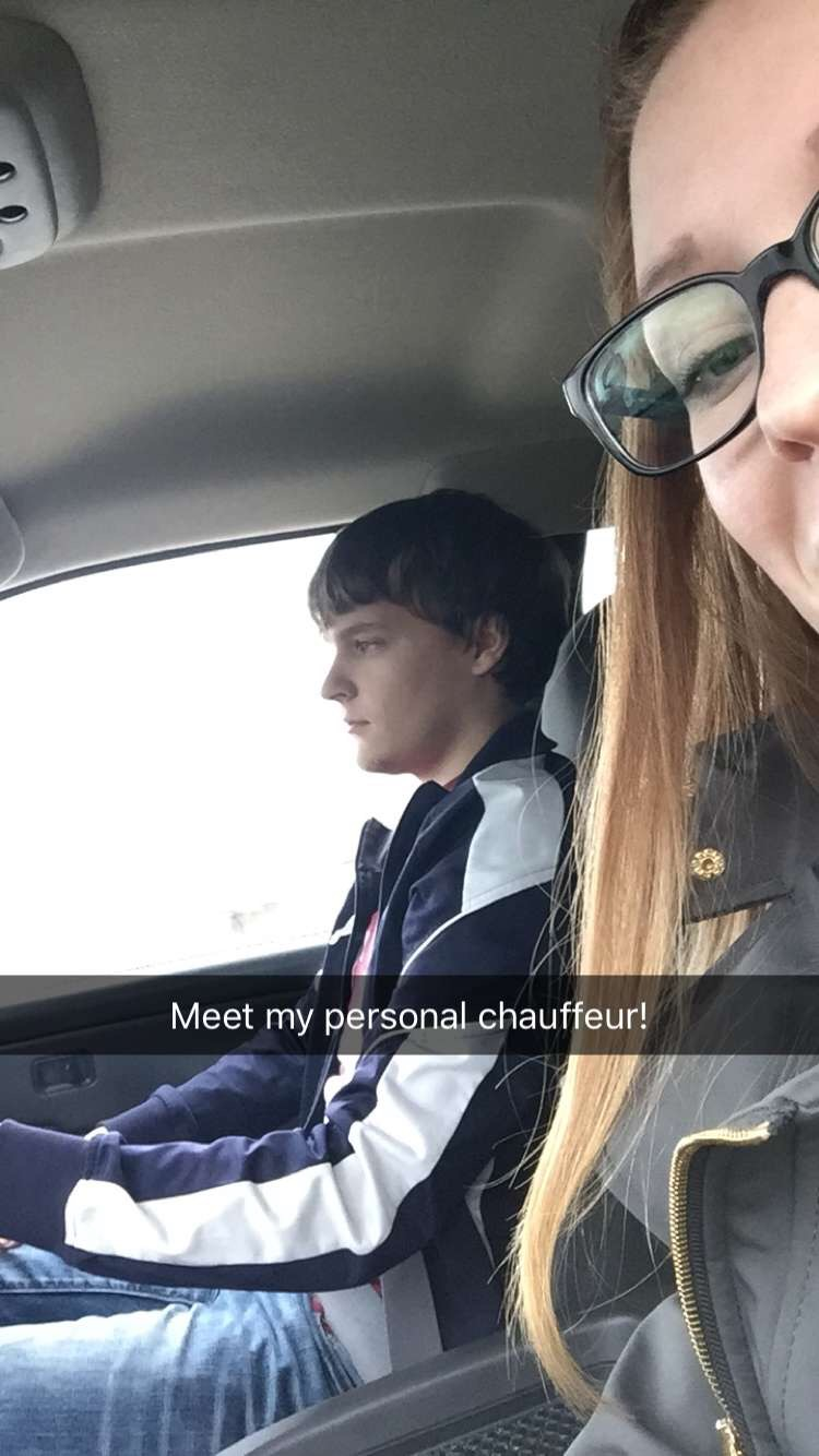 My little brother was my personal chauffeur this week since I no longer have a car.