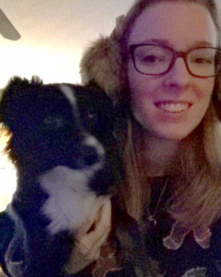 Trying on my new earmuffs with Oliver on Christmas morning