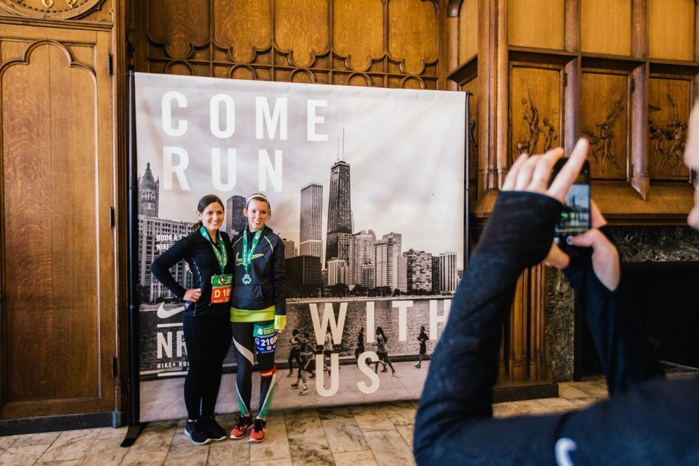 Jenn and I at the after party. Photo courtesy of Nike+ Chicago