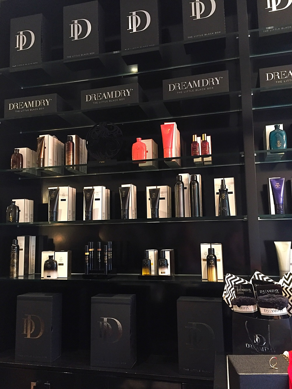 DreamDry uses Oribe products in-salon.