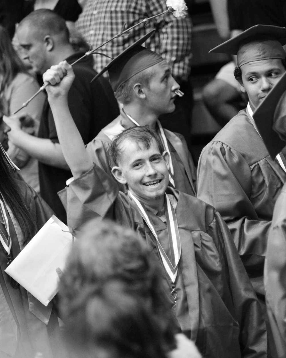 Chase at graduation