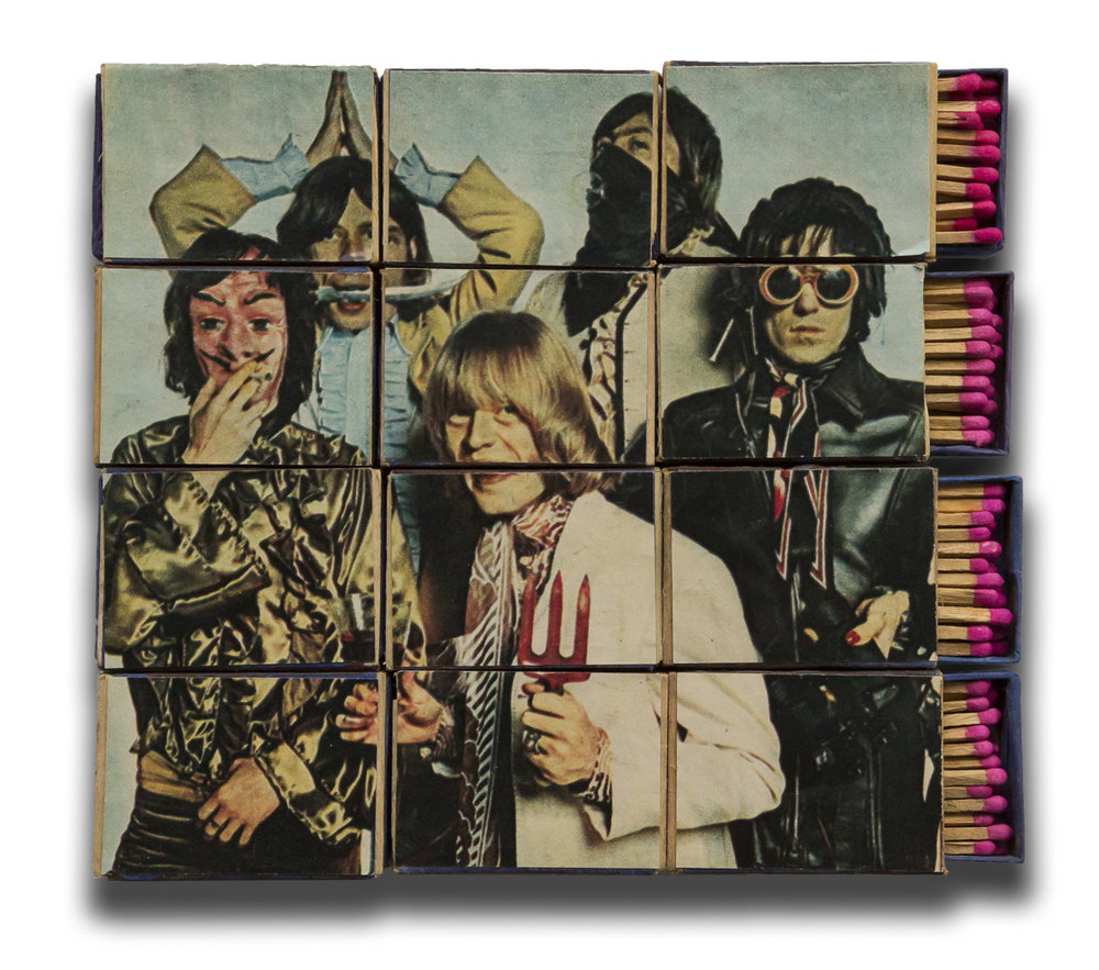 Marko Pogačnik (OHO group), Rolling Stones Matchboxes, 1967, mixed media, matchboxes.