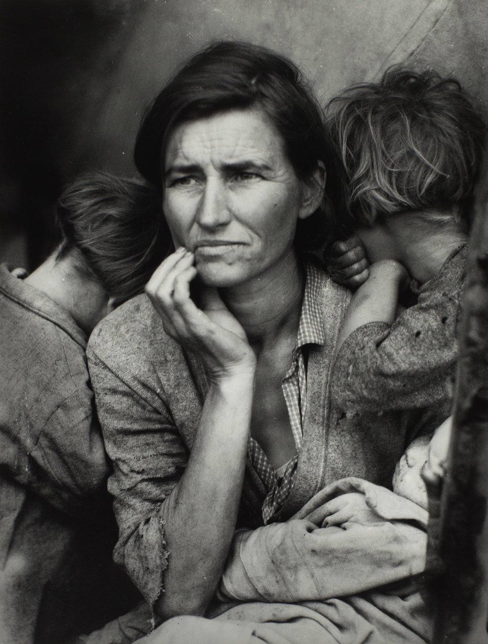 Dorothea Lange 1895-1965, Migrant Mother 1936,Photograph, gelatin silver print on paper, 318 x 241 mm, The Sir Elton John Photography Collection.