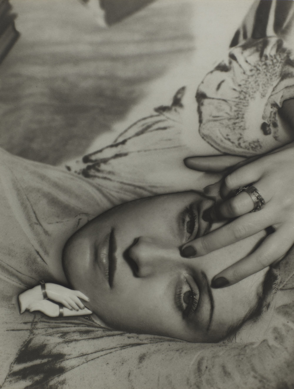 Man Ray 1890-1976, Dora Maar, 1936, Photograph, gelatin silver print on paper, 165 x 215 mm, The Sir Elton John Photography Collection, © Man Ray Trust/ADAGP, Paris and DACS, London 2016.