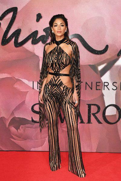Nicole Scherzinger at British Fashion Awards Wearing Julien Macdonald