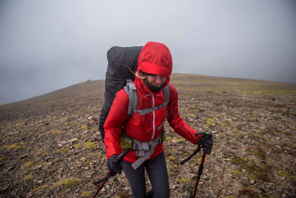 Our first day on the Dientes Circuit,75+ mph winds were not uncommon while hiking during the day.
