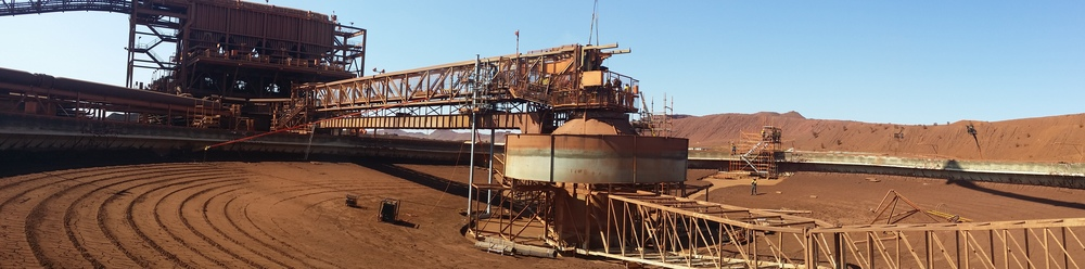 After draining, the thickener was cleaned and support structures added to enable removal of original bridge